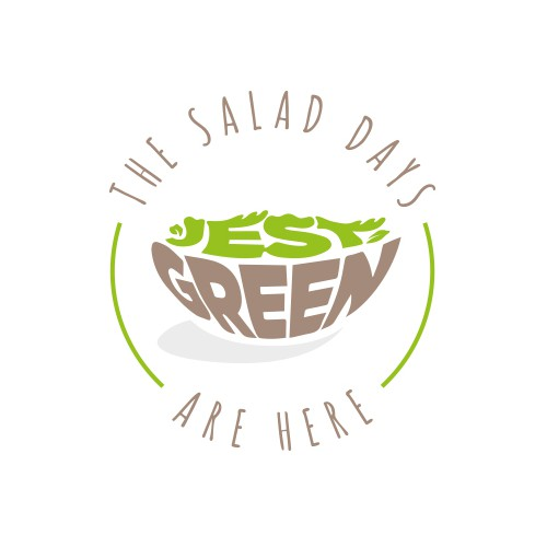 Green logo with the title 'Healthy food logo.'