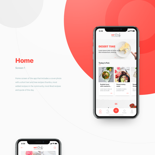 Figma design with the title 'Food Recipes App'