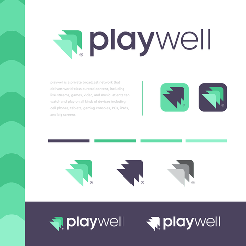Gaming logo with the title 'playwell'