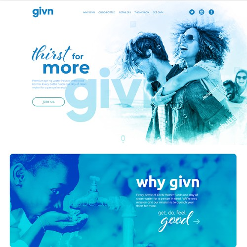 Unique website with the title 'GIVN'