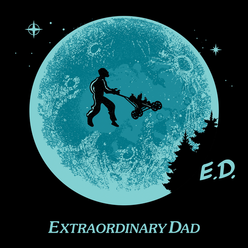 Moon t-shirt with the title 'E.D.'