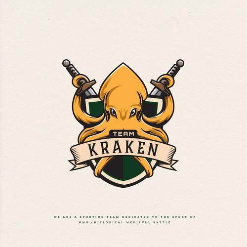 Octopus logo with the title 'Team Kraken'