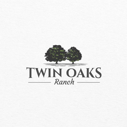 Tree logo with the title 'Logo for Twin Oaks Ranch'