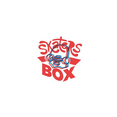 Skateboard logo with the title 'skateboarding brand logo'