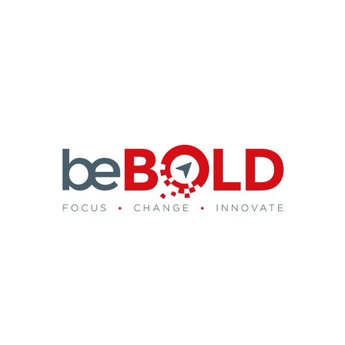 Black and red logo with the title 'Bold logo for a digital consulting company'