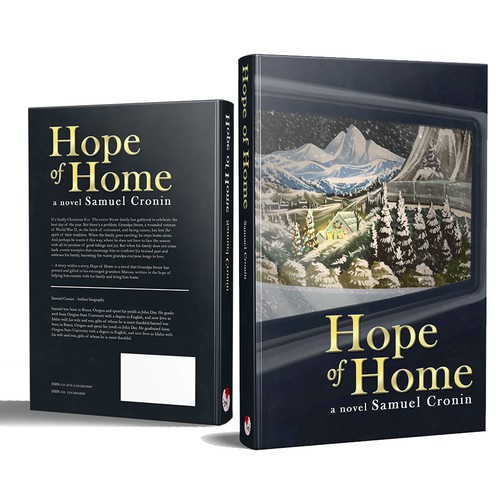 Christmas book cover with the title 'Hope of Home'