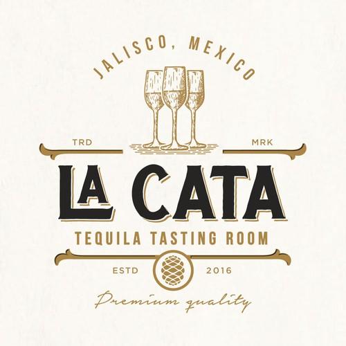 Mexican logo with the title 'La Cata'