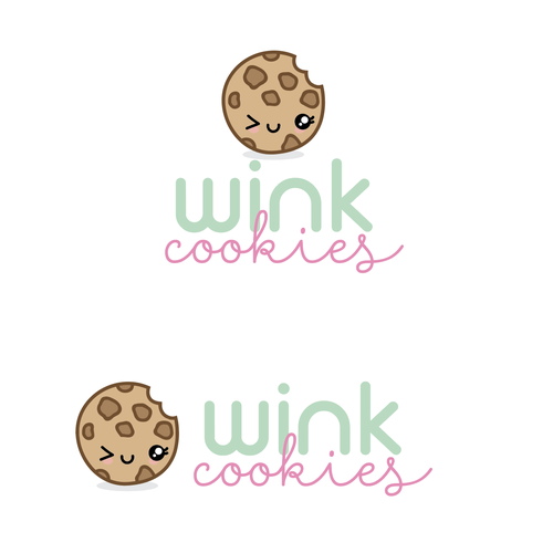 Kawaii logo with the title 'Wink Cookies'