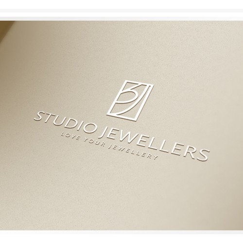 Studio logo with the title 'Logo design for jewellery boutique'