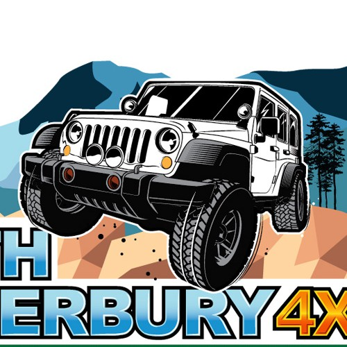 Jeep design with the title 'North Canterbury 4X4'