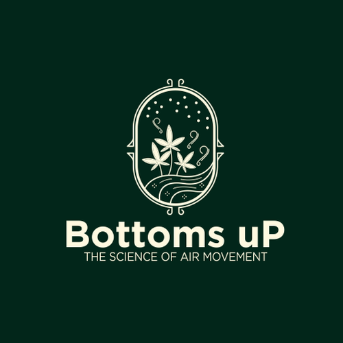 Ecosystem logo with the title 'Logo Design Contest for 'Bottoms uP' Vertical Air System in Cannabis Grow Operations'