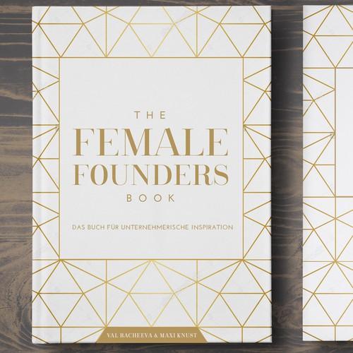Feminine book cover with the title 'elegant book cover design'