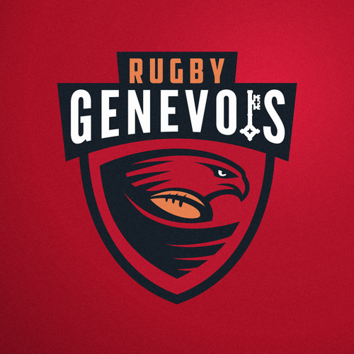 Bird sport logo with the title 'Logo concept for Rugby in Geneva and Switzerland.'