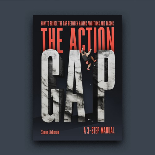 Climbing design with the title 'The Action G-A-P book cover'