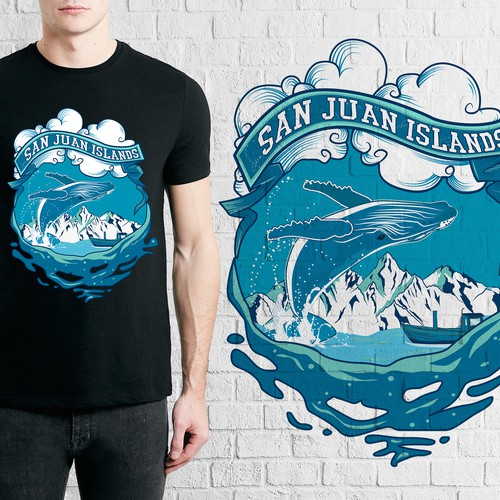 Whale t-shirt with the title 't-shirt design'