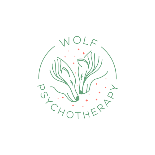 Psychotherapy logo with the title 'Wolf Psichotherapy Logo'