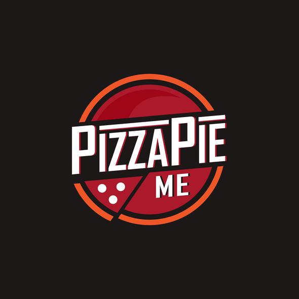 Pizza logo with the title 'PIZZA PIE ME Creative Logo Design'