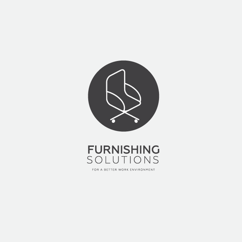 Furniture brand with the title 'Furnishing Solutions Logo Concept'