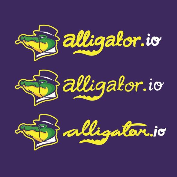 Crocodile logo with the title 'Wining Design for Alligator.io'