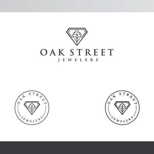 Oak leaf design with the title 'Logo for jewelry company'