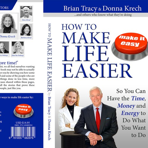 Gray and blue design with the title 'Book Cover for Brian Tracy & Donna Krech'
