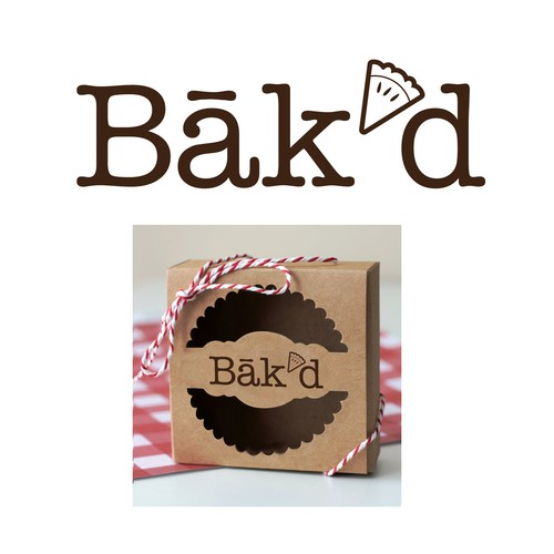 Cozy design with the title 'winning design: bak'd pie bakery logo'