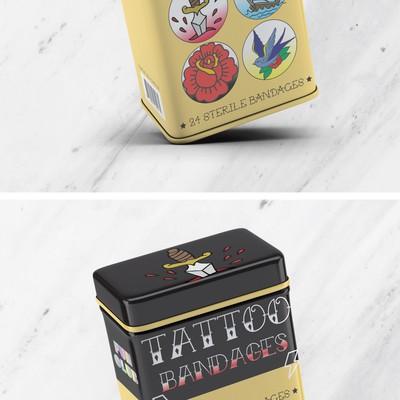 TATTOO Bandages Tin Box Design