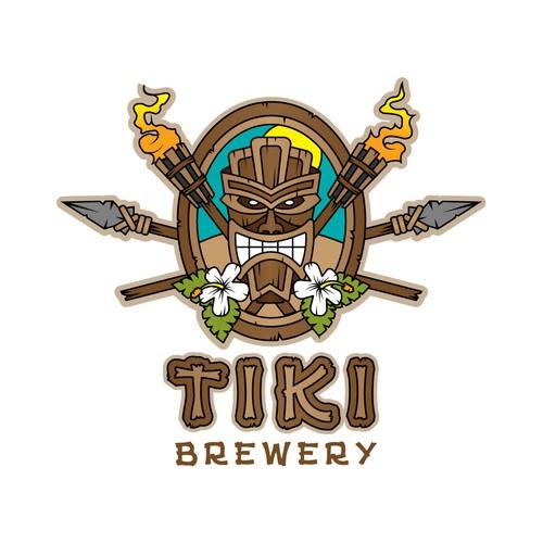 Tiki logo with the title 'Tiki Brewery'