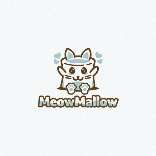 Marshmallow design with the title 'Meow Mellow'