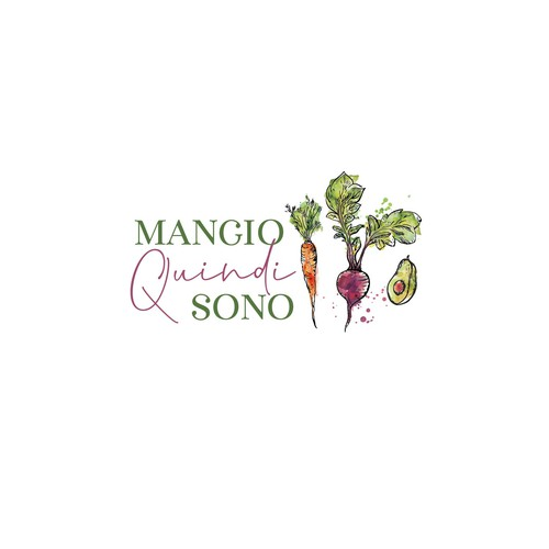 Sketchbook logo with the title 'hand drawn logo for mangio quindi sono'