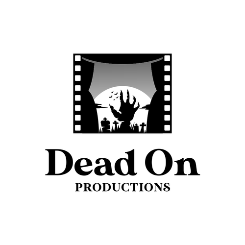 Opera logo with the title 'bold logo concept for dead on productions'