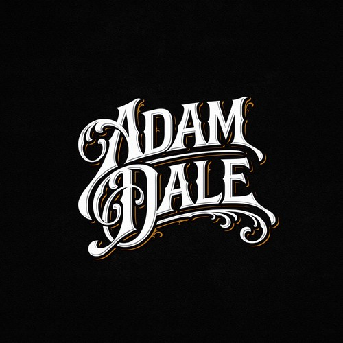 Singer logo with the title 'Lettering design suggestion for Adam Dale'