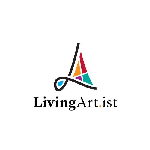 Sailboat design with the title 'Logo for LivingArtist'