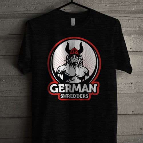 Circle t-shirt with the title 'german shedders'