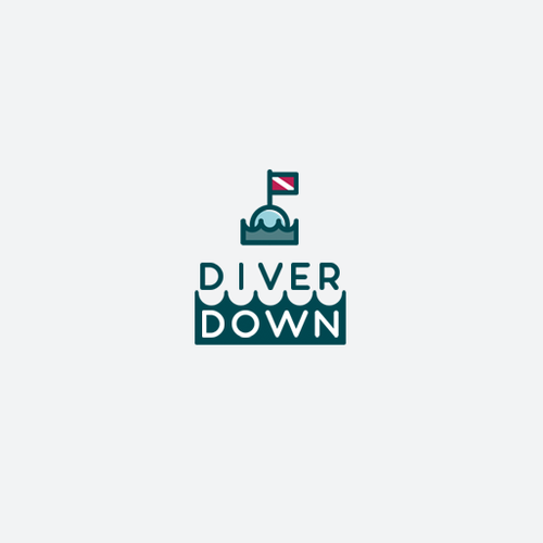 Diver logo with the title 'Logo for newly established internet company.'