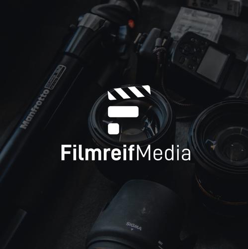 Filmstrip logo with the title 'Filmreif Media'
