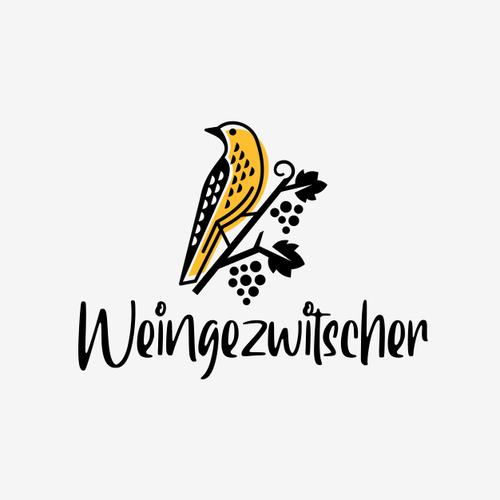 Grape design with the title 'Pirol bird logo'