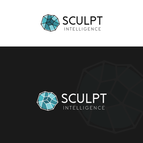 """Sculpture logo with the title 'Sophisticated & Abstract logo design for """"Sculpt Intelligence""""'"""