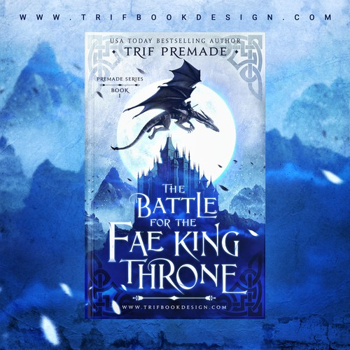Fantasy design with the title 'Book Cover Design Trifbookdesign'