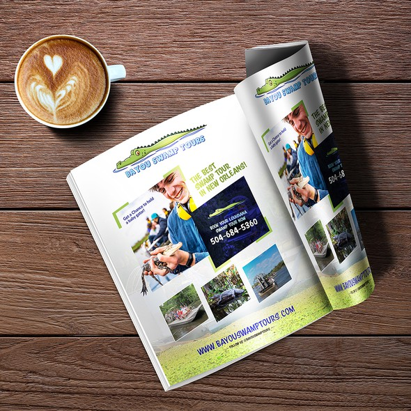 Print ad design with the title 'Advertisement Design'