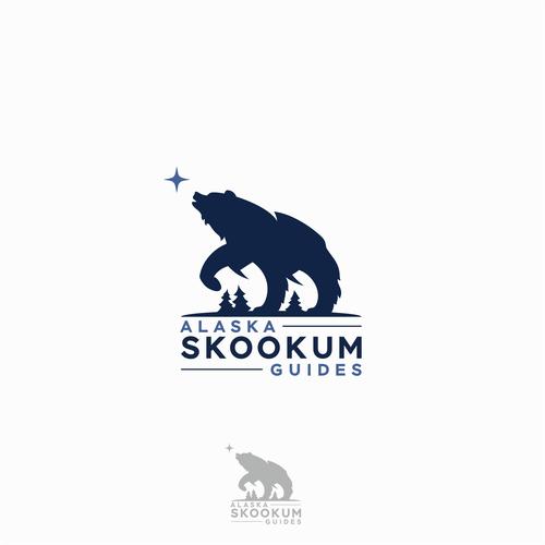 Alaska logo with the title 'Alaska Skookum Guides'