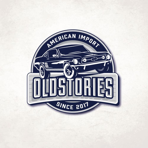 Furniture logo with the title 'OLDSTORIES'
