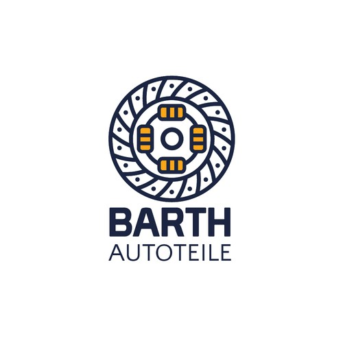 Auto parts logo with the title 'Logo concept for a business that sells car engine parts.'