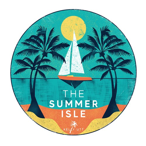 Sailing design with the title 'The Summer Isle'
