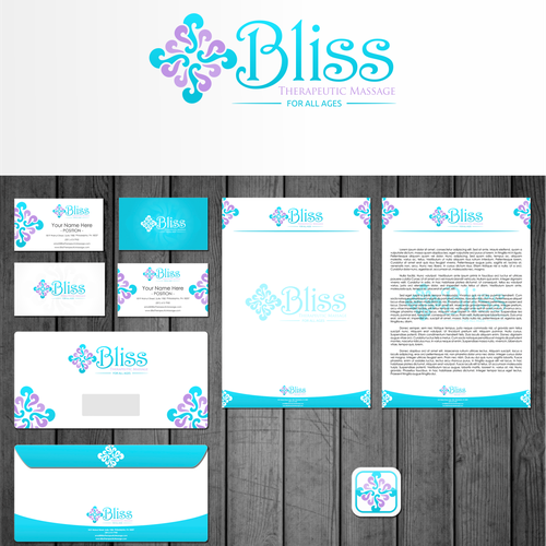 Envelope logo with the title 'Bliss Therapeutic Massage or Bliss Massage needs a new logo'