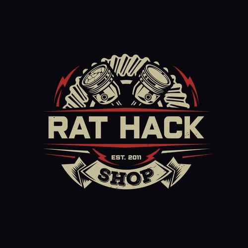 Piston design with the title 'Rat Hack'