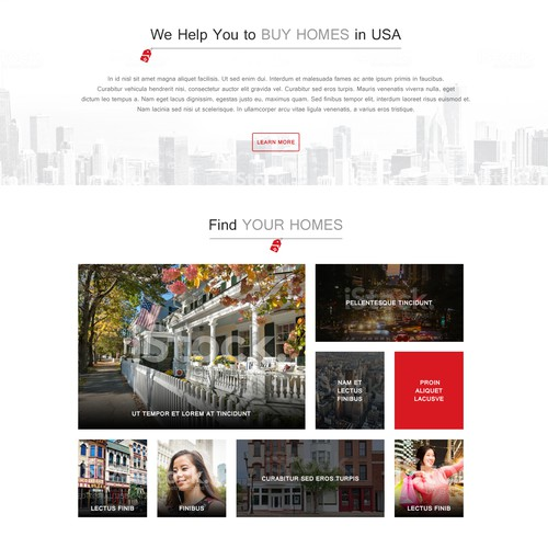 Home design with the title 'a new website for foreign home buyers'