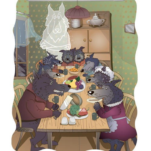 Story illustration with the title 'Kids book illustration'