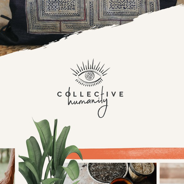Earthy design with the title 'Brand Concept for Collective Humanity'