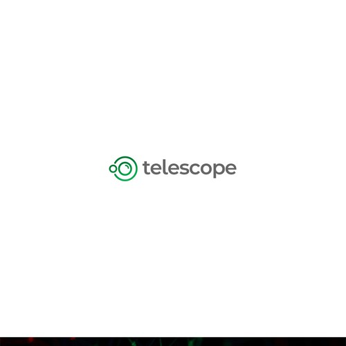 Scope design with the title 'Clean logo for Telescope Company'